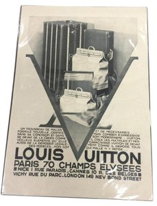 Louis Vuitton Louis Vuitton advertising print from the 1930s