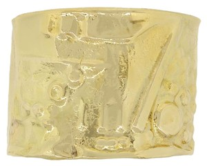 Misani Misani 18k Yellow Gold Electroform Cuff Bangle