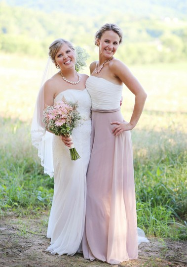 After Six Skirt Color: Taupe Bodice: Ivory Lux Chiffon Http://Www.dessy.com/Dresses/Bridesmaid/6677/#.usx_zkd3hrp?md=yes Formal Bridesmaid/Mob Dress Size 2 (XS)