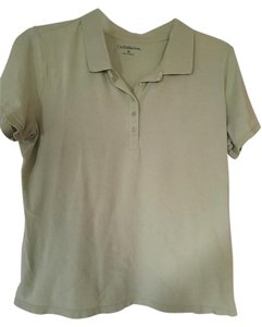 Croft & Barrow Polo Button Short Sleeve Golf Top Light green