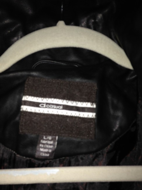 D casual Leather Jacket