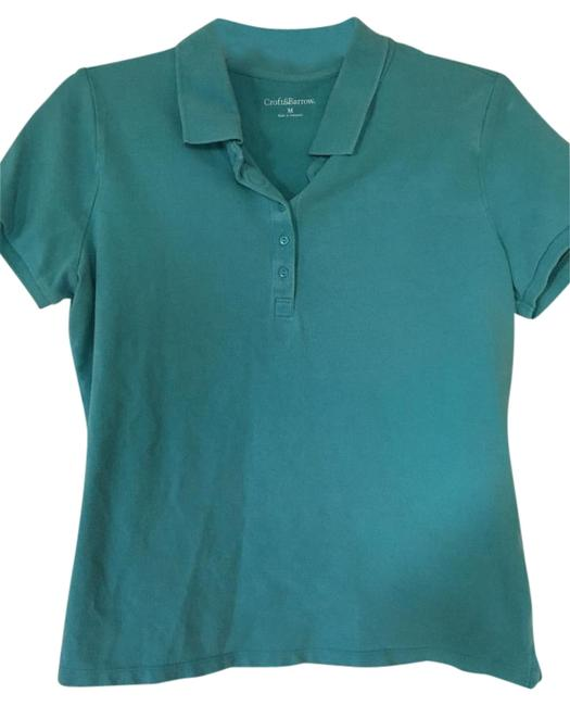 Croft & Barrow Polo Button Short Sleeve Golf Top Teal