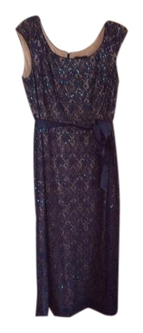 Preload https://item5.tradesy.com/images/r-and-m-richards-navytaupe-cap-sleeve-lace-gown-long-formal-dress-size-16-xl-plus-0x-15720799-0-1.jpg?width=400&height=650