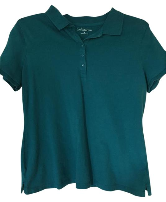 Preload https://item5.tradesy.com/images/croft-and-barrow-turquoise-polo-blouse-size-10-m-15720814-0-1.jpg?width=400&height=650