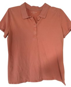 Croft & Barrow Polo Button Short Sleeve Golf Top Peach