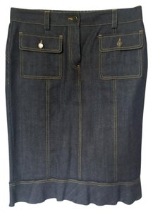 Louis Vuitton Denim Skirt Navy