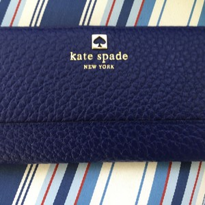 Kate Spade WLRU #1394 SOUTHPORT STACEY COWHIDE LEATHER HOLIDAY BLUE WALLET NWT