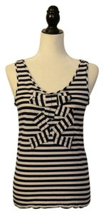 Kate Spade Top Black and White Stripe