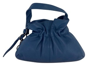 Furla Blue Leather Small Handbag Hobo Bag