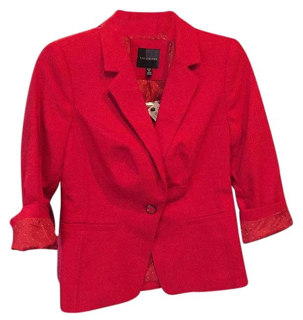 Preload https://item4.tradesy.com/images/the-limited-poppy-red-blazer-size-petite-2-xs-15721258-0-1.jpg?width=400&height=650