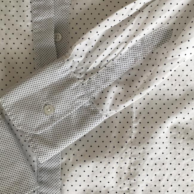Carolina Herrera Button Down Shirt White with black dots