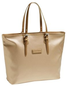 Longchamp Gold Handbag Derby Designer Designer Handbags Tote in Platinum/Gold