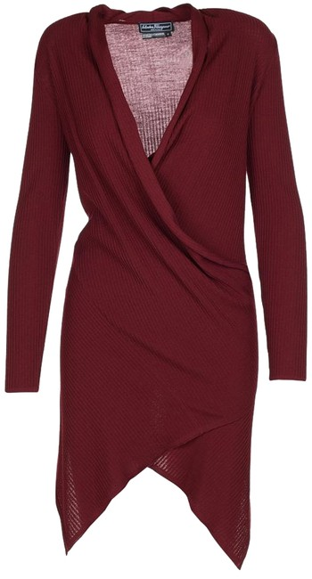Preload https://img-static.tradesy.com/item/15721960/salvatore-ferragamo-bordeaux-women-s-wool-wrap-around-long-top-mid-length-short-casual-dress-size-6-0-1-650-650.jpg