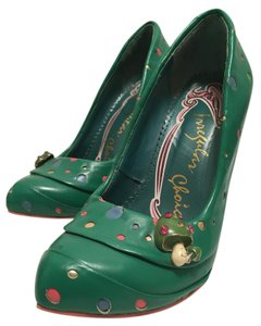 Irregular Choice Leather Leather Green Pumps