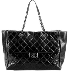 Chanel Tote in Black & Maroon