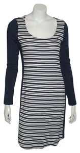 Ella Moss short dress NAVY/WHITE Striped Scoop Neck on Tradesy