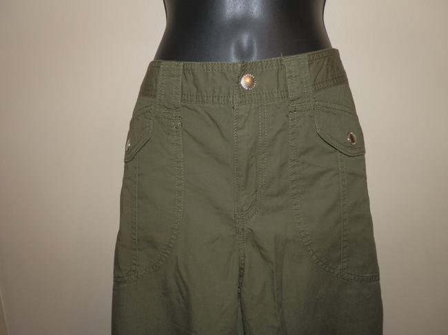 Lauren Ralph Lauren Cotton Pockets Capri/Cropped Pants Khaki green