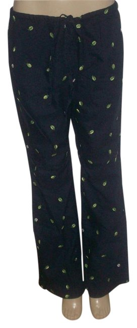Item - Navy Blue L New Without Cotton Beetles Embroiderey Patterns Lounge Pants Size 12 (L, 32, 33)