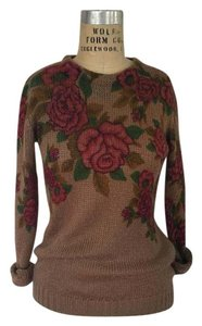 Pins and Needles Roses Urban Outfitters Floral Fall Sweater