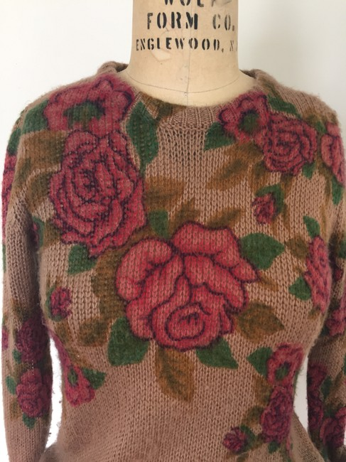 Urban Outfitters Roses Floral Fall Sweater