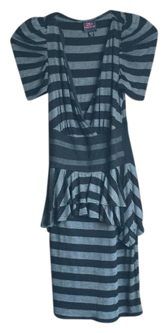 Item - Blk and Grey Above Knee Night Out Dress Size 0 (XS)