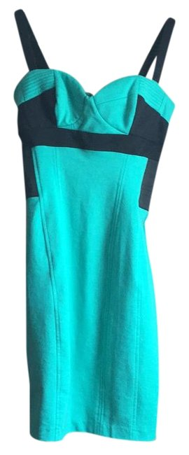 Preload https://item1.tradesy.com/images/kardashian-kollection-blk-and-teal-above-knee-cocktail-dress-size-4-s-15722425-0-1.jpg?width=400&height=650