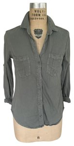 Cloth & Stone Anthropologie Button Down Shirt Faded Army Green