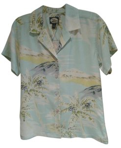 Tommy Bahama About 24 Inches Long Top Hawaiian Print Women's