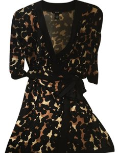 Alfani short dress black leopard on Tradesy