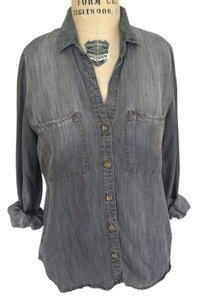 Cloth & Stone Button Down Shirt Faded Grey