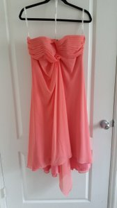 David's Bridal Coral Reef Strapless Chiffon Short Dress F12284 Dress
