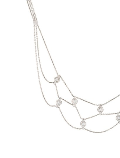 Other Estate 18k White Gold And 0.45ct Diamond Chain Necklace 16