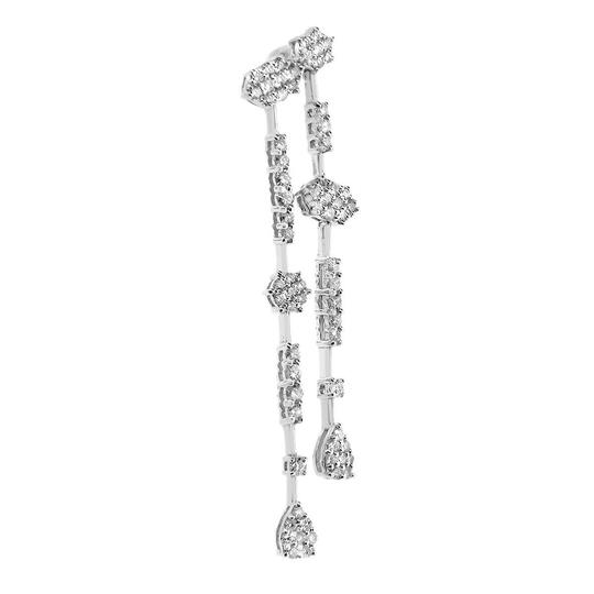 Other 1.56ct Diamond Embellished 14k White Gold Dangle Earrings