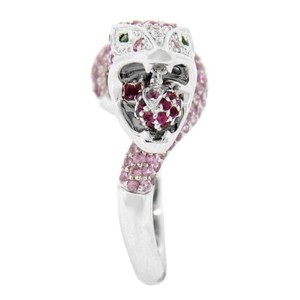 Other Glk 14k White Gold 3.22ct Purple Sapphire And Diamond Snake Ring