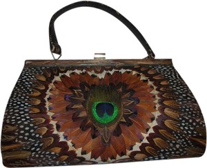 Other Evening Evening Handbag Vintage Vintage Satchel in feather