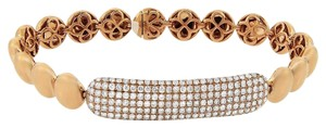 2.36ct Diamond 14k Rose Gold Bead Bracelet