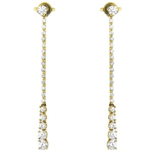 Bucherer Bucherer 18k Yellow Gold And Diamond Dangle Earrings