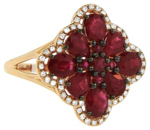 Other 3.46ct Ruby 14k Rose Gold And Diamond Ring