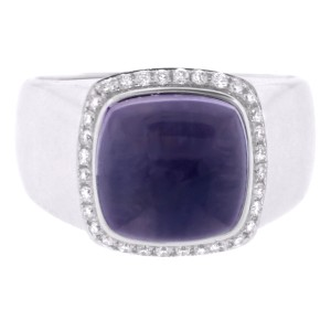 FRED Fred Of Paris 18k White Gold Amethyst And Diamond Ring