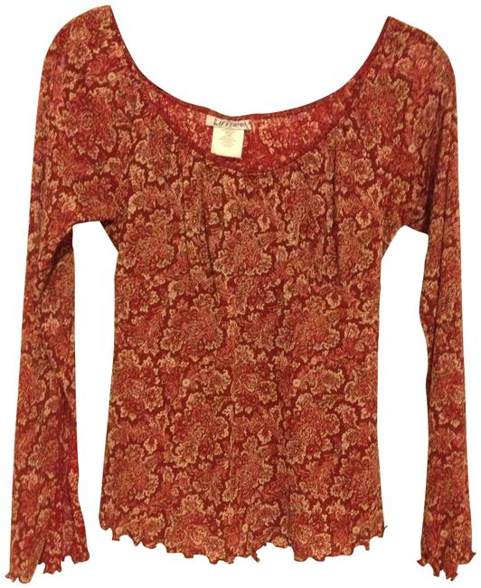 Self Esteem Top cranberry floral
