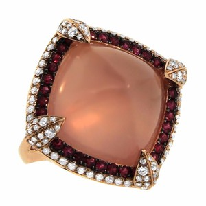 Other 26.41ct Rose Quartz 14k Rose Gold And Diamond Cocktail Ring