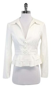 Nanette Lepore White Cotton Suit Jacket