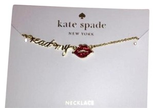Kate Spade Brand New Kate Spade Necklace Red Read my lips