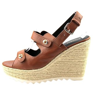 Coach Platforms Sandals Open Toe Brown Wedges