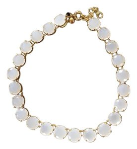J.Crew New JCrew Cream Stpne w/Gold Trim Necklace.