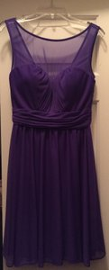 David's Bridal Plum Dress