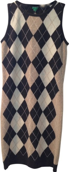 United Colors of Benetton Argyle Wool Dress