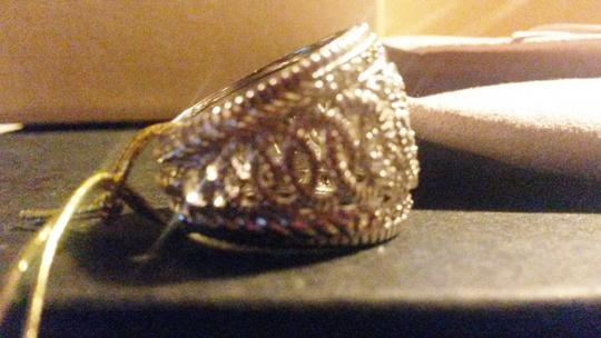 Judith Ripka Sterling Silver ring Large town & country White Sapphire size 7 Image 4