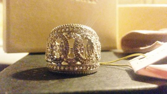 Judith Ripka Sterling Silver ring Large town & country White Sapphire size 7 Image 8