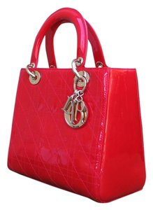 Dior Lady Clutch Tote in Bright Red